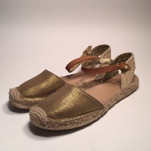 Sperry Espadrilles w Sparkle Linen Fabric Sz 8.5